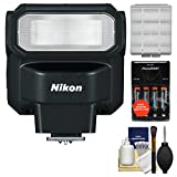 Nikon SB-300 AF Speedlight Flash with Batteries & Charger + Cleaning & Accessory
