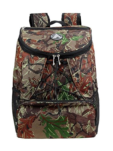 Large Padded Backpack Cooler - Fully Insulated, Leak and Water Resistant, Adjustable Shoulder Straps, Extra Storage Pockets - Camo - by GigaTent by GigaTent (Image #1)