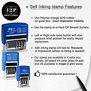 IMPACT2PRINT Colop S126 6 Digit Sequential Numbering Stamp Self Inking Rubber Stamp Business Custom Stamp Office Stationary