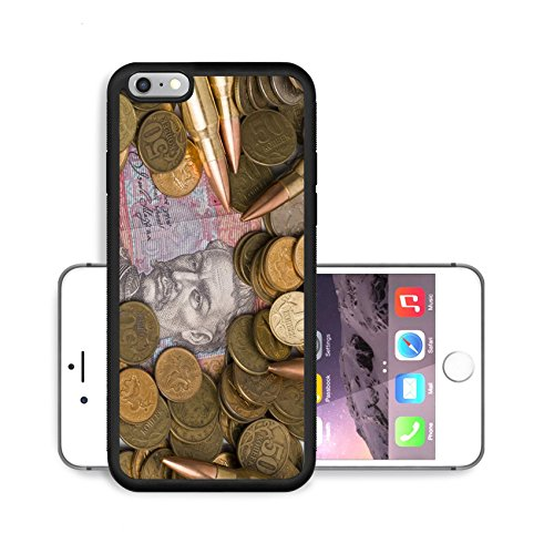 Liili Premium Apple iPhone 6 Plus iPhone 6S Plus Aluminum Backplate Bumper Snap Case IMAGE ID 28339581 Russian and Ukrainian coins and bullets
