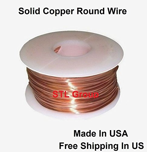 - Copper Round Wire 3 Oz Spool Or Coil / See Variations 10 To 30 Ga (10 Ga - 6.6 Ft /Coil)