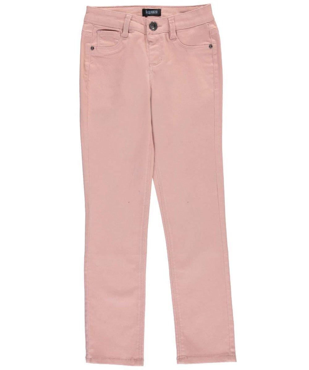 SQUEEZE Big Girls'Ridged Hardware Skinny Pants 8
