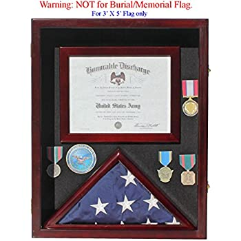 Military Shadow Box 3u0027X5u0027 Flag Display Case for 3u0027X5u0027  sc 1 st  Amazon.com & Amazon.com - Military Memorial Shadow Box Burial/Funeral Flag ... Aboutintivar.Com