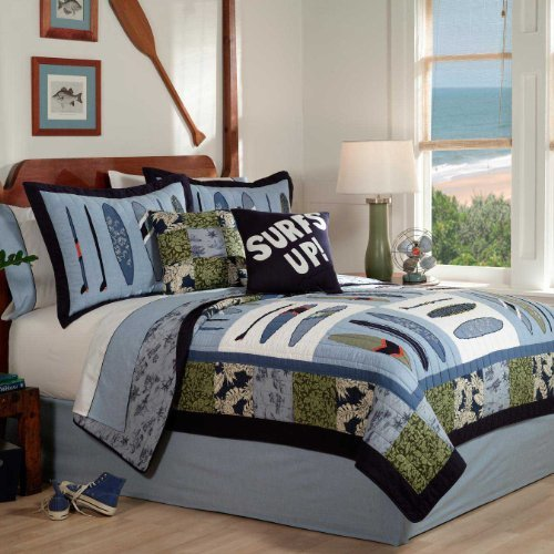 Pem America Catch a Wave Twin Quilt with Pillow Sham by Pem America