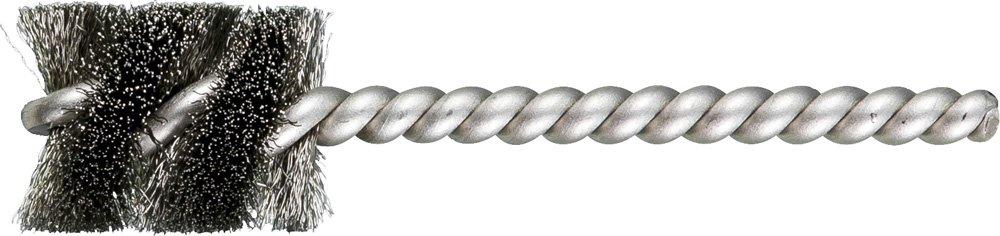 Single Stem//Spiral.005 13//16 Diameter 1//4 Stem Stainless Steel Wire 1 Brush Part Length PFERD 83399 SpyraKleen Tube Brush Pack of 36 INOX