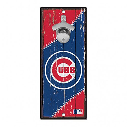 Chicago Cubs MLB Bottle Opener Sign 5'' x 11''