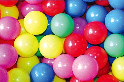 POCO DIVO 400 Pit Balls Crush-Proof BPA Free Plastics Ball 5-Color Kids Play Non-Toxic Wonder Ball with Mesh Bag by POCO DIVO (Image #1)