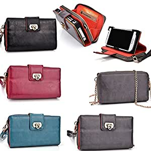Ladies wristlet phone holder in a Universal design fits Huawei Ascend G525 : Slate Grey