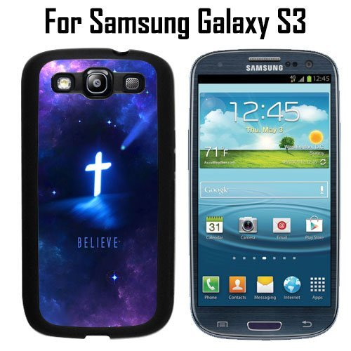 Stylish Religious Christian Cross Custom Case/ Cover/Skin *NEW* Case for Samsung Galaxy S3 - Black - Rubber Case (Ships from CA) Custom Protective Case , Design Case-ATT Verizon T-mobile Sprint ,Friendly Packaging - Slim Case