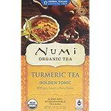 Turmeric Tea, Golden Tonic 12 Bags by Numi Tea (Pack of 2)