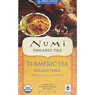 Numi Organic Tea Turmeric Tea - Golden Tonic - 12 Count