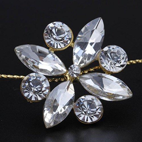 YAZILIND Femmes Handmade Attractive fleur de cristal Bandeaux Pour Mariage