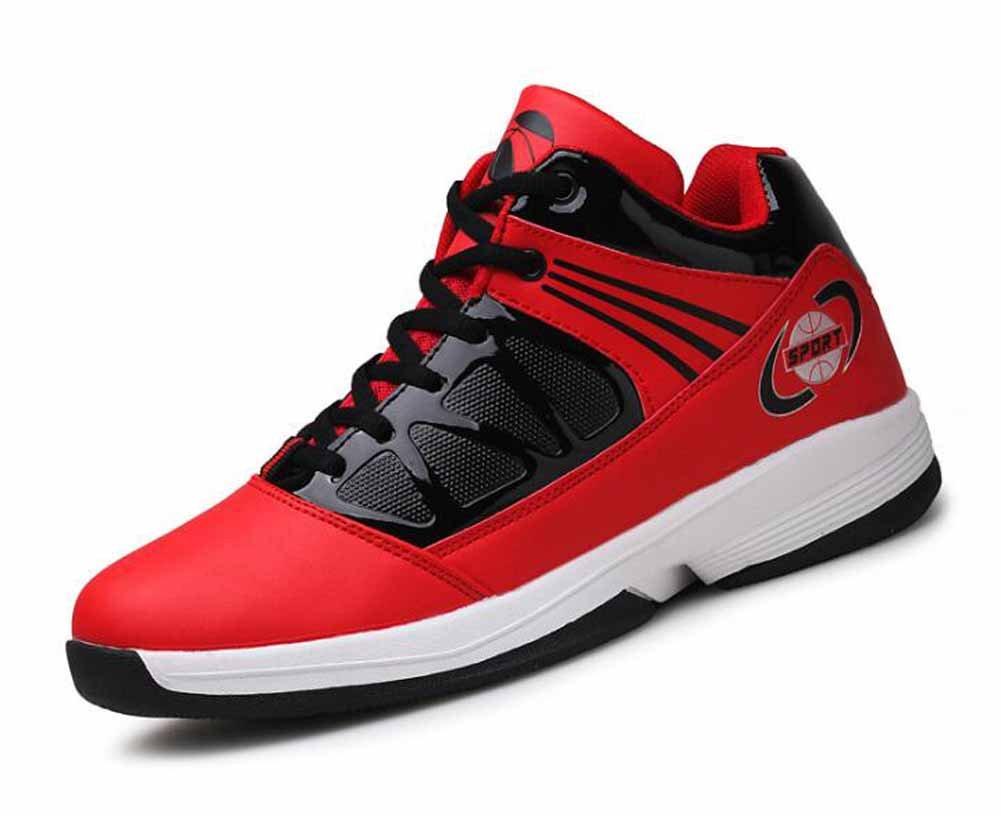 Hombres zapatillas de baloncesto otoño nueva juventud Al aire libre impermeable zapatillas de luz de los zapatos corrientes ( Color : Red , Size : 44 ) 44 Red