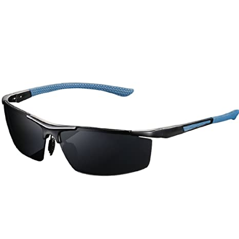 TangMengYun Gafas de Sol polarizadas para Hombres Gafas para Conducir con Pesas Marcos de Aluminio y