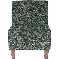 Parker Lane Uch-Amanda-pon4 Safari Armless Slipper Chair, Peacock
