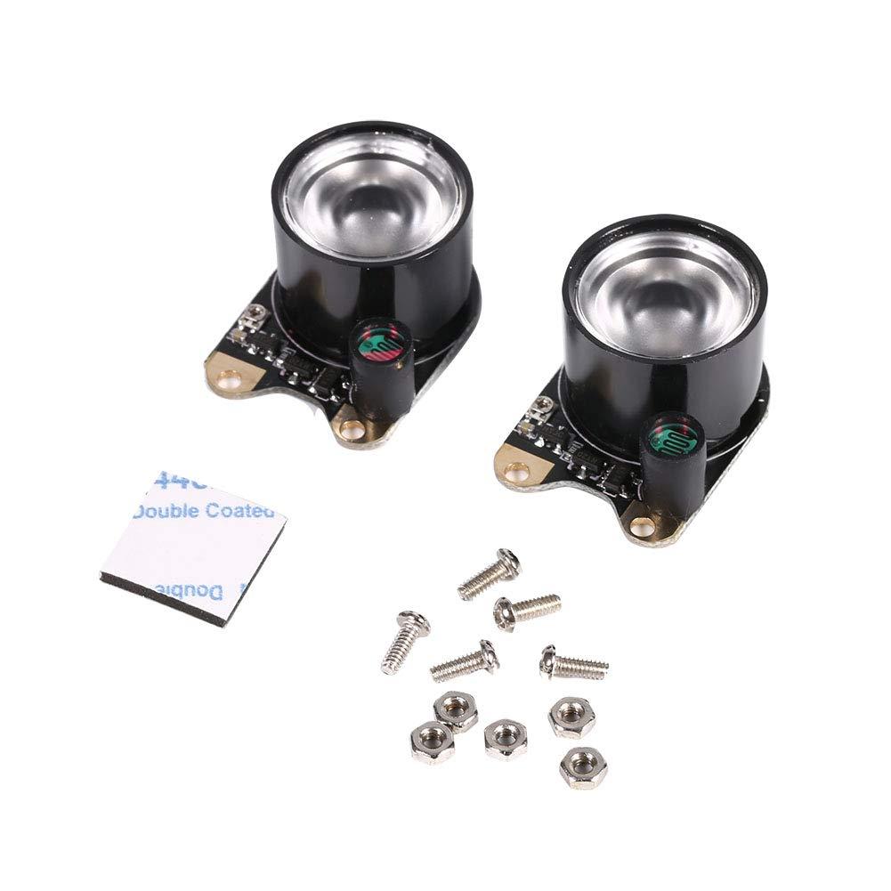 Zerone 2Pcs 3W High Power 850 IR LED Module iluminador infrarrojo de visi/ón nocturna con resistencia de foto integrada para el m/ódulo de c/ámara de pieza de frambuesa