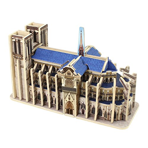ooden Craft Kit Famous World Building Model Notre Dame de Paris Educational Toy (Famous Buildings)