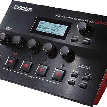 BOSS GT-001 amplificador de guitarra/procesador de efectos y la interfaz de audio