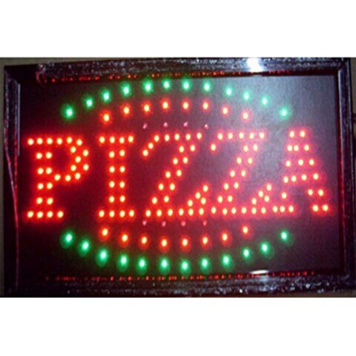 CHENXI Led Pizza Burger panini hot Dog Hamburger Sandwiches Tacos Shop Open Sign Graphics Indoor Running 48X25 cm Food Store led Sign (48 X 25 cm, ()