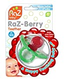 RaZbaby RaZ-Berry Silicone Teether / Multi-texture Design / Hands Free Design / Red