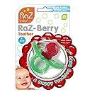 RaZbaby RaZ-Berry Silicone Teether / Multi-texture Design / Hands Free Design / Red