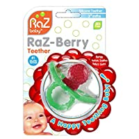 RaZbaby RaZ-Berry Silicone Teether / Multi-texture Design / Hands Free Design...