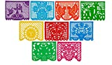 Festive Large Plastic Mexican Papel Picado Banner (15 Feet Long) Designs as Pictured by Paper Full of Wishes