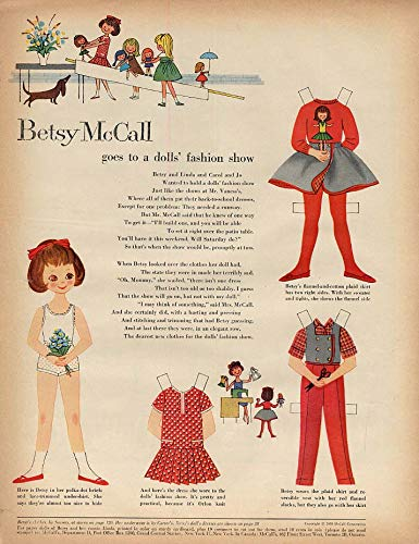 Betsy McCall goes to a dolls' fashion show paper doll page 8 1959 ()