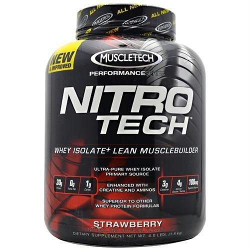 MuscleTech Nitro-Tech Performance Series Strawberry -- 4 lbs