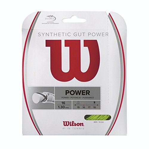 Wilson Synthetic Gut Power Tennis String, Lime, - Tennis Strings