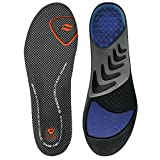Sof Sole Men's Airr Orthotic Full-Length Performance Shoe Insoles, Men's Size 11-12.5 Black