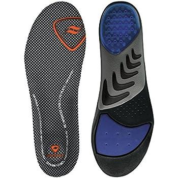 Black//Red Mens 7-13 Sof Sole Men/'s Memory Plus Cushioning Shoe Insoles Mens