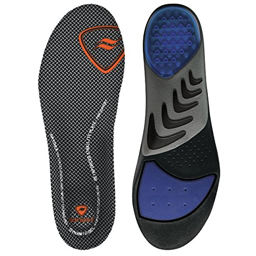 Sof Sole Insoles Men's AIRR Orthotic Support Full-Length Gel Shoe Insert, Men's 9-10.5 Black