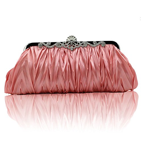Handbag Ladies Dress Evening Bag C Luxury Party Dinner Bag Chain Pleated Diagonal Shoulder WUHX Clutch 1RIOOx