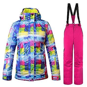 HAONUAN Traje De Esquí Wild Snow Chaqueta De Esquí Y Pantalones De Esquí 2 Unids Set