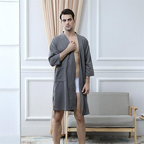 camicia grey DDOQ lunghe pajamas assorbente maniche large Soft Grey coppia Grey a Touch accappatoio x vwxX1qwaFr
