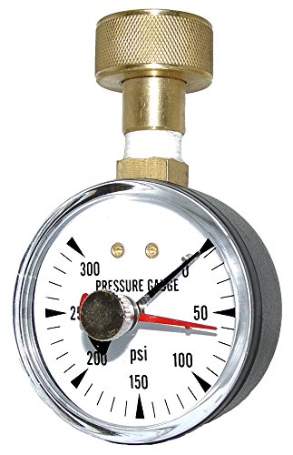 PIC Gauge HOSE-MAX Pressure Gauge with Hose End Connection and Maximum Pressure Indicator 2.5 Dial Size 0/300 psi Range