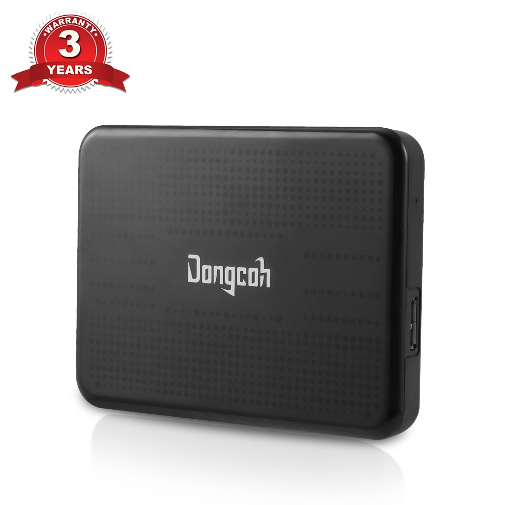 External Hard Drive 500GB, Dongcoh Portable High Capacity HDD - USB 2.0 - Data Transfer External Storage HDD for Laptop, Xbox One, Windows by DongCoh