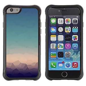 Híbridos estuche rígido plástico de protección con soporte para el Apple iPhone 6 (4.7) - landscape view modern art horizon