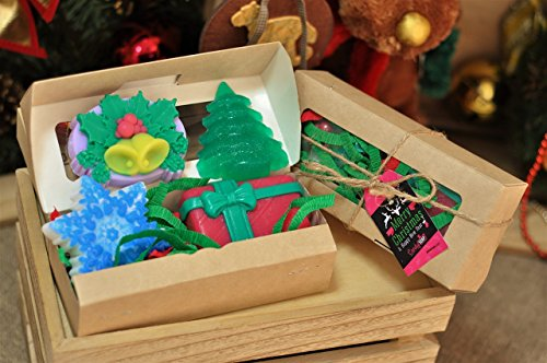 Perfect Soap set Gift - Luxury Soap! Set of 4! Gift Boxed! Set of 4 Assorted Scents - Perfect Gift! Candy (Candy Gifts Boxed)