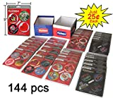 Flashers Fun Valentine Flashing Message Discs as seen on TV, 144 pcs BELOW WHOLESALE