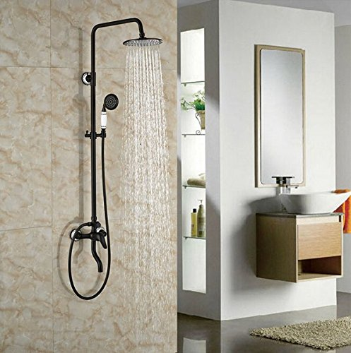 GOWE Wall Mounted Oil Rubbed Broze Shower Set Single Lever With Hand Shower Mixer Tap 1