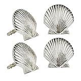Coastal Living Silver Seashell Metal Napkin Rings, Set of 4