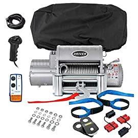 Driver Recovery Products Electric Winch Combo Set – LD12-ELITE Winch with Premium Accessory Package 12,000 lbs. Capacity