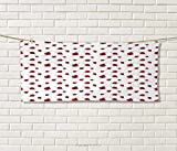 Anniutwo Ladybugs,Hand Towel,Ladybug Dotted Wings Swirls Curves Abstract Simple Pattern Animal,Quick-Dry Towels,Red Black White Size: W 20'' x L 20''