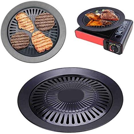 HYRL en Plein air sans fumée Barbecue Grill Pan gaz ménage ménage antiadhésif cuisinière à gaz Plaque Barbecue Barbecue Outil