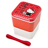Sanrio Hello Kitty Square two-stage lunch case From Japan New