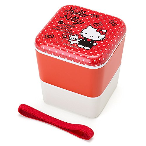 Sanrio Hello Kitty Square two-stage lunch case From Japan New by Sanrio