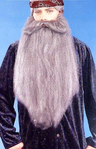 Duck Hunter 18 Facial Hair Accessory Grey Beard Moustache by DUCK DYNASTY