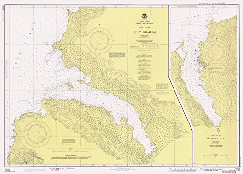 Map | Port Graham And Seldovia Bay, AK, 1978 Nautical NOAA Chart | Vintage Wall Art | 44in x 32in ()